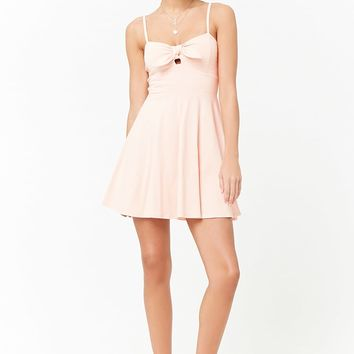 Tie-Front Cami Skater Dress