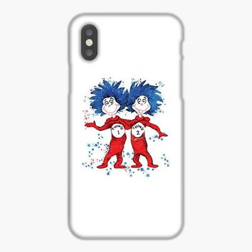 Dr Seuss Thing 1 And Thing 2 Watercolor iPhone XS Max Case
