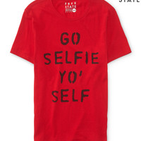 Free State Mens Free State Selfie Graphic T-Shirt - Red,