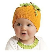 Knit Pumpkin Hat