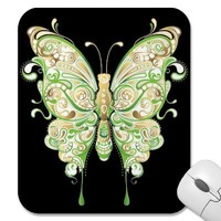Golden Butterfly Mousepad from Zazzle.com