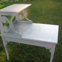 Paris Gray Shabby Chic Table by WhimsicallyMellow on Etsy