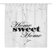Home Sweet Home Polyester Bathroom Shower Curtain