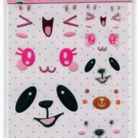 Korea Cute Face Facial Expression Deco Sticker Sheet Part 2 #16 (I0715)