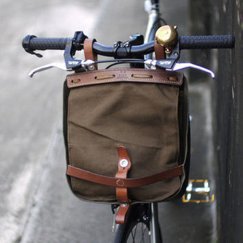 $48.00 vintage khaki swiss military bread bag & bike pack by OdeToJune