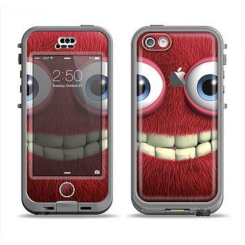 The Red Smiling Fuzzy Wuzzy Apple iPhone 5c LifeProof Nuud Case Skin Set