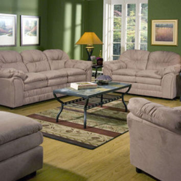 Serta 5750 Mocha Sofa and Loveseat