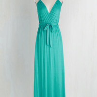 Long Sleeveless Maxi Tango With Me Dress in Mint by ModCloth