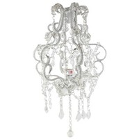 "15"" Clear Beaded Hanging Chandelier 