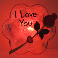 GlowFlower (I Love You) -unique, cool, gift for her, gift for him, valentine's day