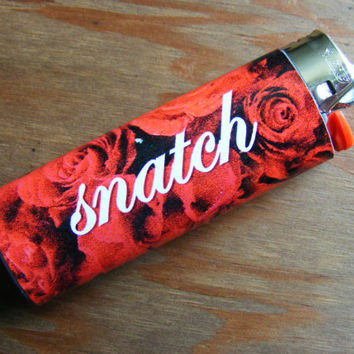 Snatch Red Roses Lighter Sticker Cover