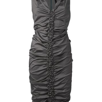 Donna Karan ruched seam dress