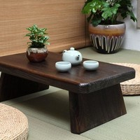Japanese Antique Tea Table Rectangle 60*35cm Paulownia Wood Traditional Asian Furniture Living Room Low  Dinner Floor Table