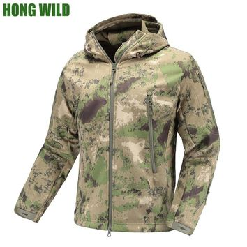 Military Tactical Jacket  Lurker Shark Skin  Soft Shell men Windbreaker Army Camouflage Waterproof  Hooded Camo Hunt Clothes