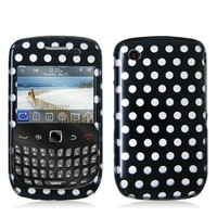 Polka Dot Design Crystal Hard Skin Case Cover for Blackberry Curve 8520 8530 3G 9300 9330 Phone New By Electromaster