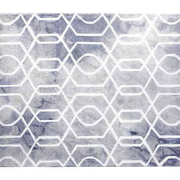 5'x8' Tyson Rug, Purple, Area Rugs