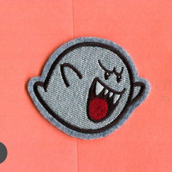 Super mario Boo Ghost Iron On Patch