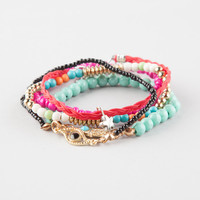 FULL TILT 5 Piece Hamsa/Eye Friendship Bracelets | Bracelets