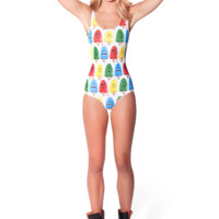 Popsicle White Swimsuit