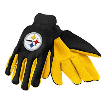 Authentic NFL Pittsburgh Steelers Logo 2 Tone Team Utility Gloves