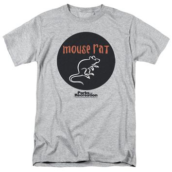 Parks & Rec - Mouse Rat Circle Short Sleeve Adult 18/1 Shirt Officially Licensed T-Shirt