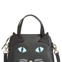 kate spade new york 'cat's meow - small maise' satchel - Black