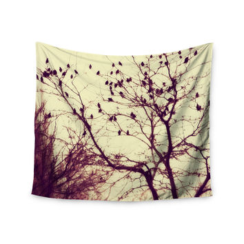 "Sylvia Coomes ""Darkness Into Light "" Green Nature Wall Tapestry"