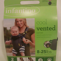 infantino Cool Vented Baby Carrier Cool Gray for 8 - 25 lbs New in box