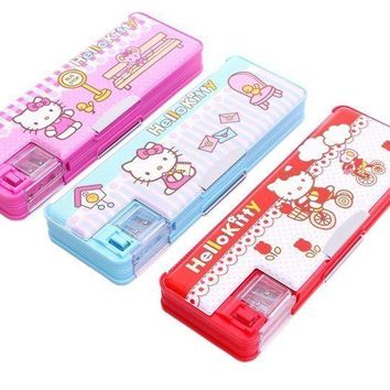 Xingkings Hello kitty Pencil Case Multi Function Pencil box Student School  K-9313