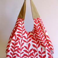 Strawberry Sorbet slouchy bag by PacoandLupe on Etsy