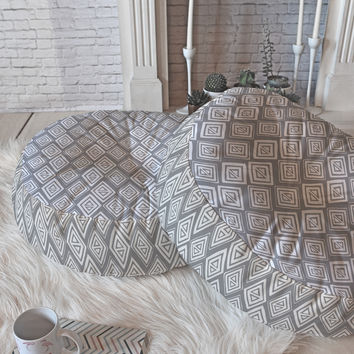 Heather Dutton Diamond In The Rough Grey Floor Pillow Round
