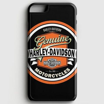 Harley Davidson Motorcycles Typography Art iPhone 6 Plus/6S Plus Case