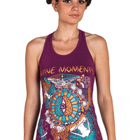 DMT top- Evolution Tank- Chakra Yoga Top- Third Eye Tank- Yoga Clothing- Space- Cosmos- Universe Tank- Graphic Woman top