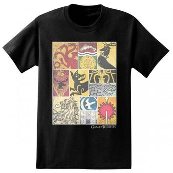 Game Of Thrones 12 HOUSE SIGILS OF WESTEROS T-Shirt NWT Licensed S-3XL