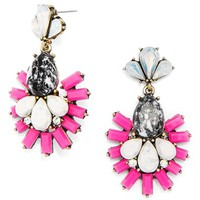Women's BaubleBar 'Organic Wharton' Drop Earrings - Pink/ Antique Gold