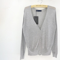 Spring Summer Brand New Causal Fashion V-neck Long Sleeve Women Knitwear Cardigan
