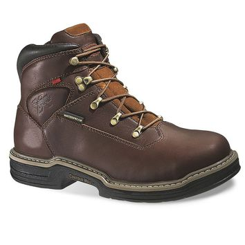 Wolverine Buccaneer Men's Extra Wide-Width Waterproof 6-in. Work Boots (Brown)