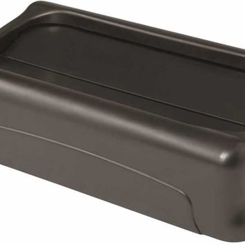 Slim Jim® Swing-top Trash Can Lid For Slim Jim® Containers, Black, 20.5x11.4x5""