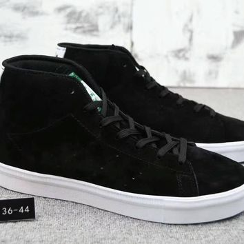 Adidas Stan Smith Vulc Mid Unisex Sport Casual Fashion High Help Plate Shoes Couple Sneakers