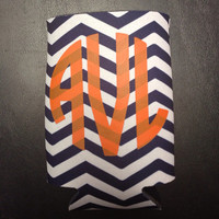 Monogrammed/Personalized Chevron Koozie by christylous on Etsy