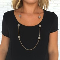 Grey Skies Multiball Necklace