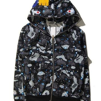 PEAPC8S Bape Winter Casual Hoodies Unisex Jacket
