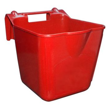 Double-Tuf™ Hook'n Feed Bucket, 14 qt., Red