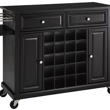 Barron Wine Cart - Wine Cart - Wine Serving Cart - Bar Cart - Wine Cabinet - Portable Kitchen Island - Kitchen Carts | HomeDecorators.com