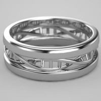 DNA Ring in Sterling Silver