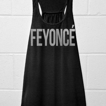 FEYONCE - Flowy Tank Top - Black with Silver
