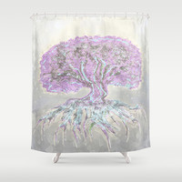 Tree of Life Lightness of Air Shower Curtain by Tree Of Life Shop
