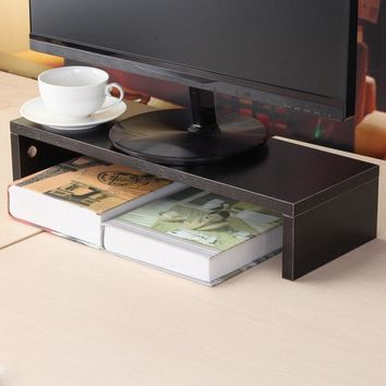 Monitor Stand Computer Screen Riser Wood Shelf Plinth Laptop Firm Strong Laptop Stand Holder For Computer