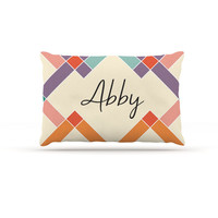 "KESS Original ""Abby"" Colorful Geometry Dog Bed"