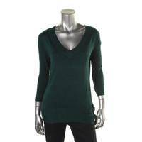 Style & Co. Womens Knit V-Neck Pullover Sweater